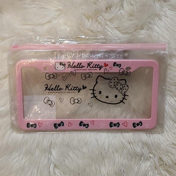 New! Sanrio Hello Kitty Car License Plate Frame